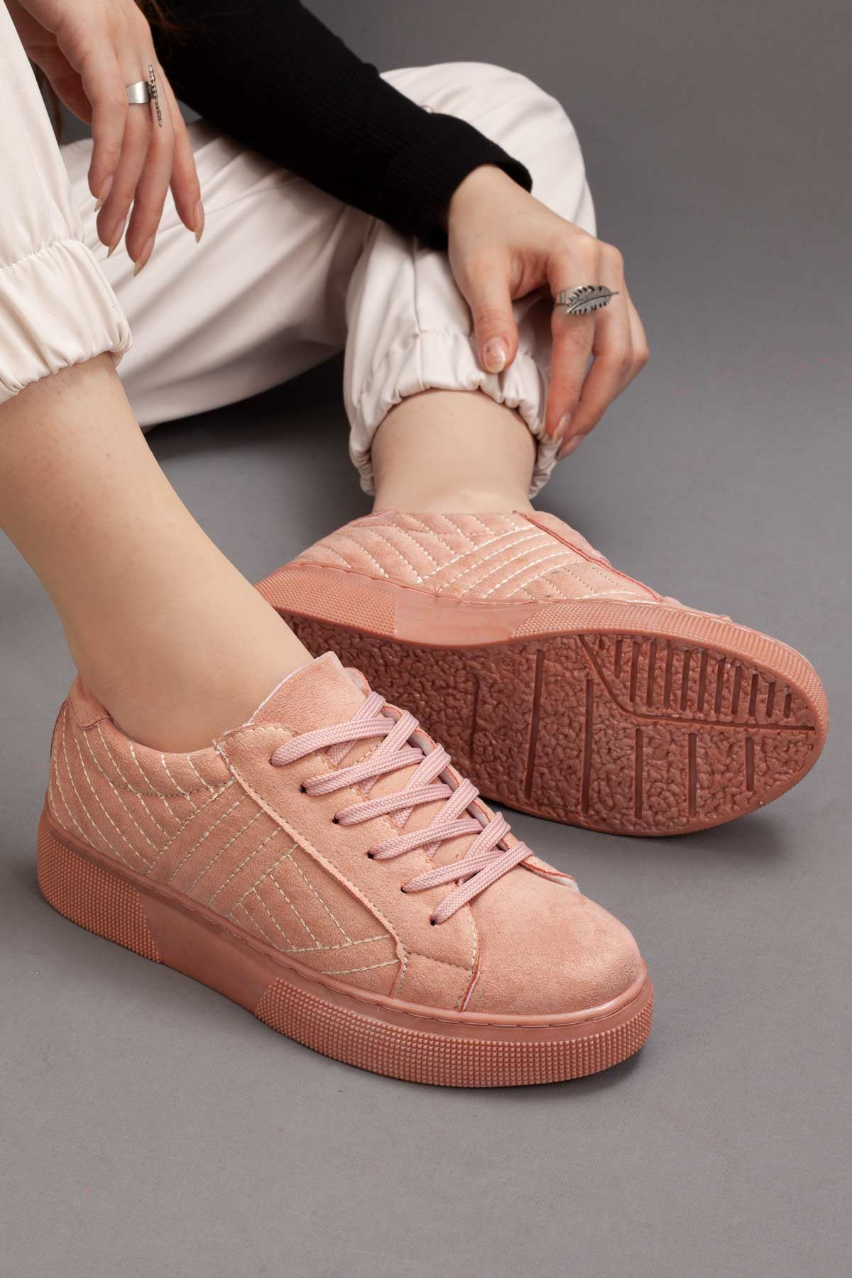 KADIN PUDRA SNEAKERS • A212YMBY0002